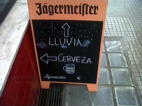 Lluvía. Cerveza