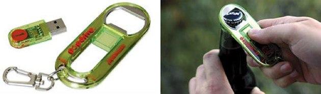 Memoria USB abrebotellas