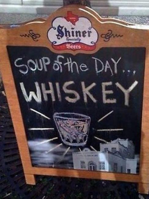 Sopa del día... Whisky