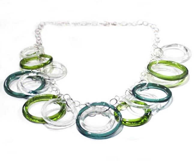 Vino reutilizar botella collar
