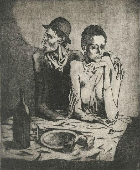 """""""La comida frugal"""" (1904), de Pablo Picasso"""