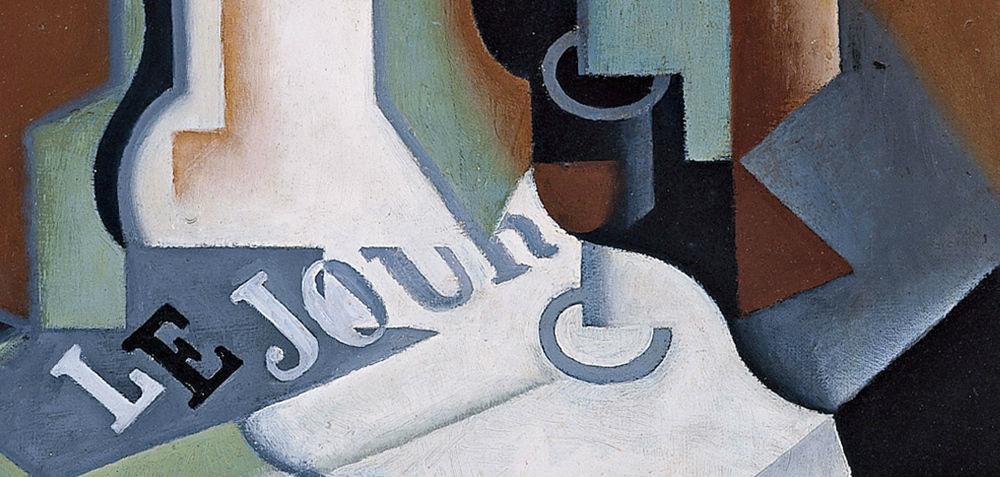 """""""Botella y frutero"""" (1919), de Juan Gris"""