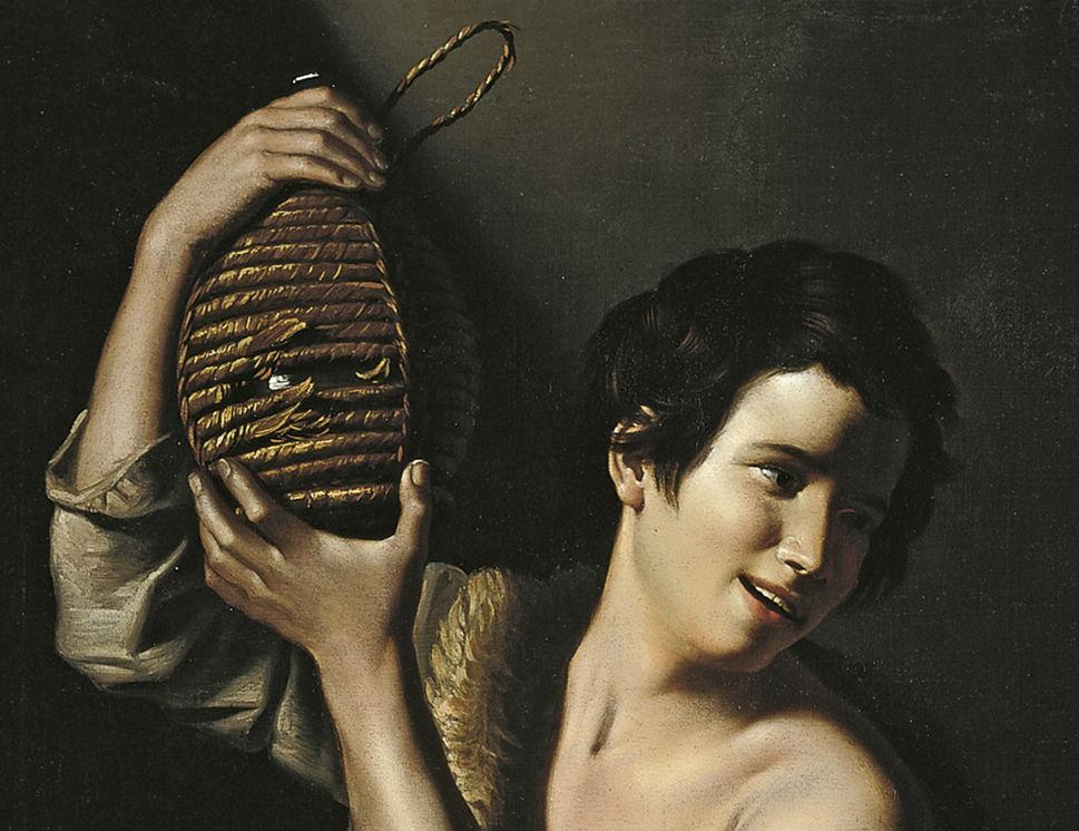 """Joven campesino con garrafa"" (1610), de Tommaso Salini"