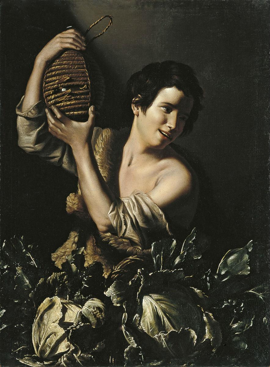 """""""Joven campesino con garrafa"""" (1610)"""