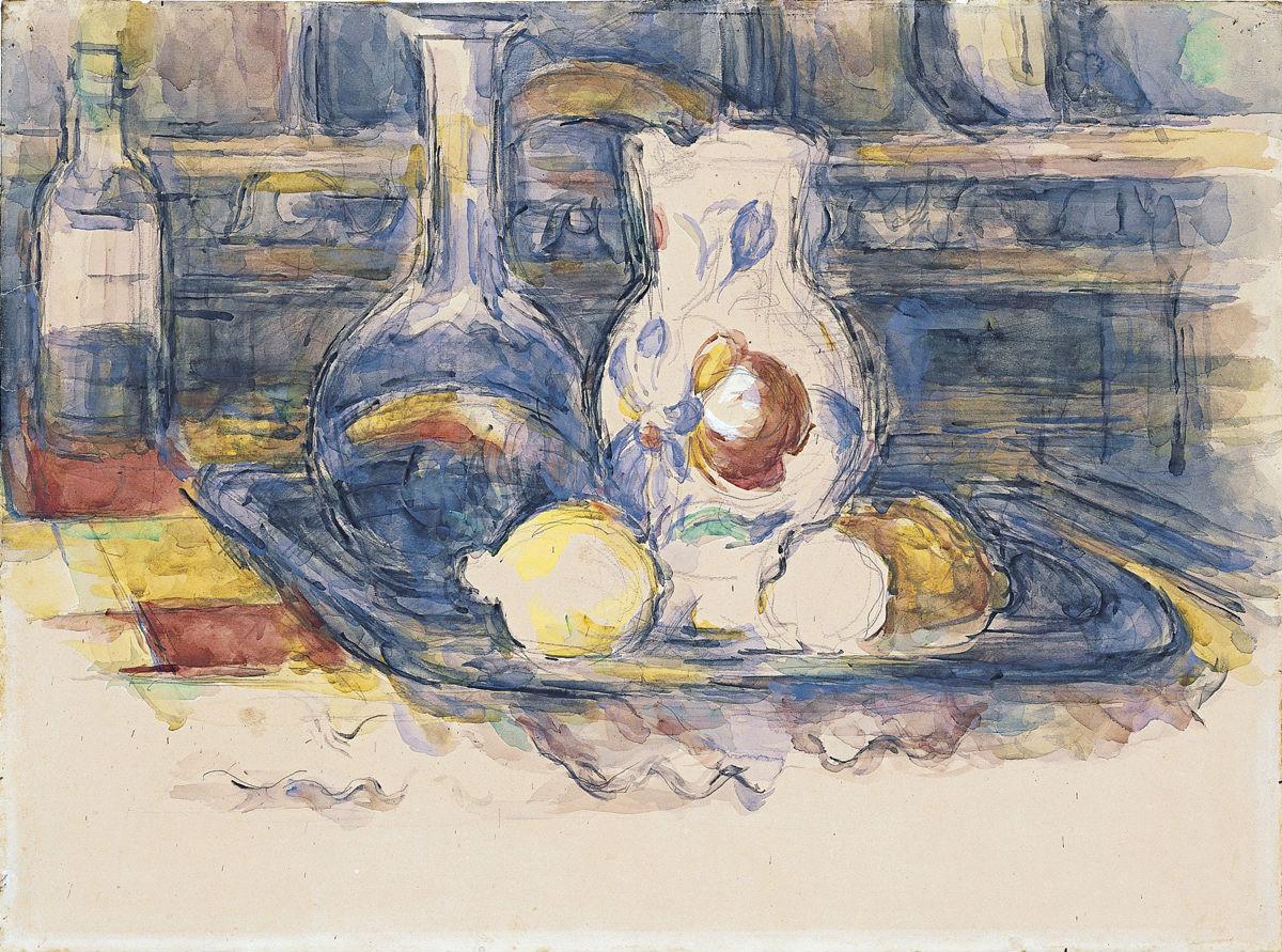 """Botella, garrafa, jarro y limones"" (1902-1906), de Paul Cézanne"