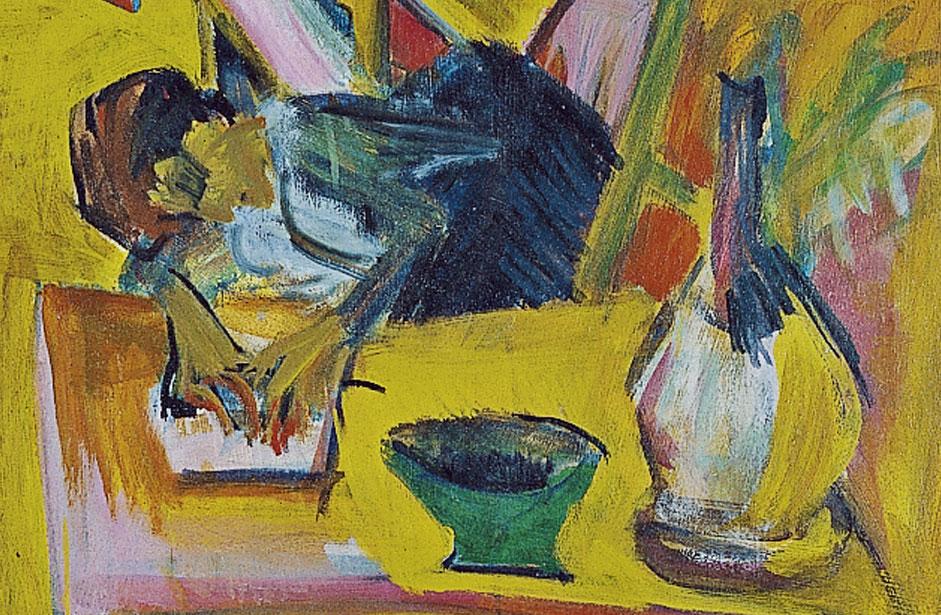 """Cocina alpina"" (1918), de Ernst Ludwig Kirchner"