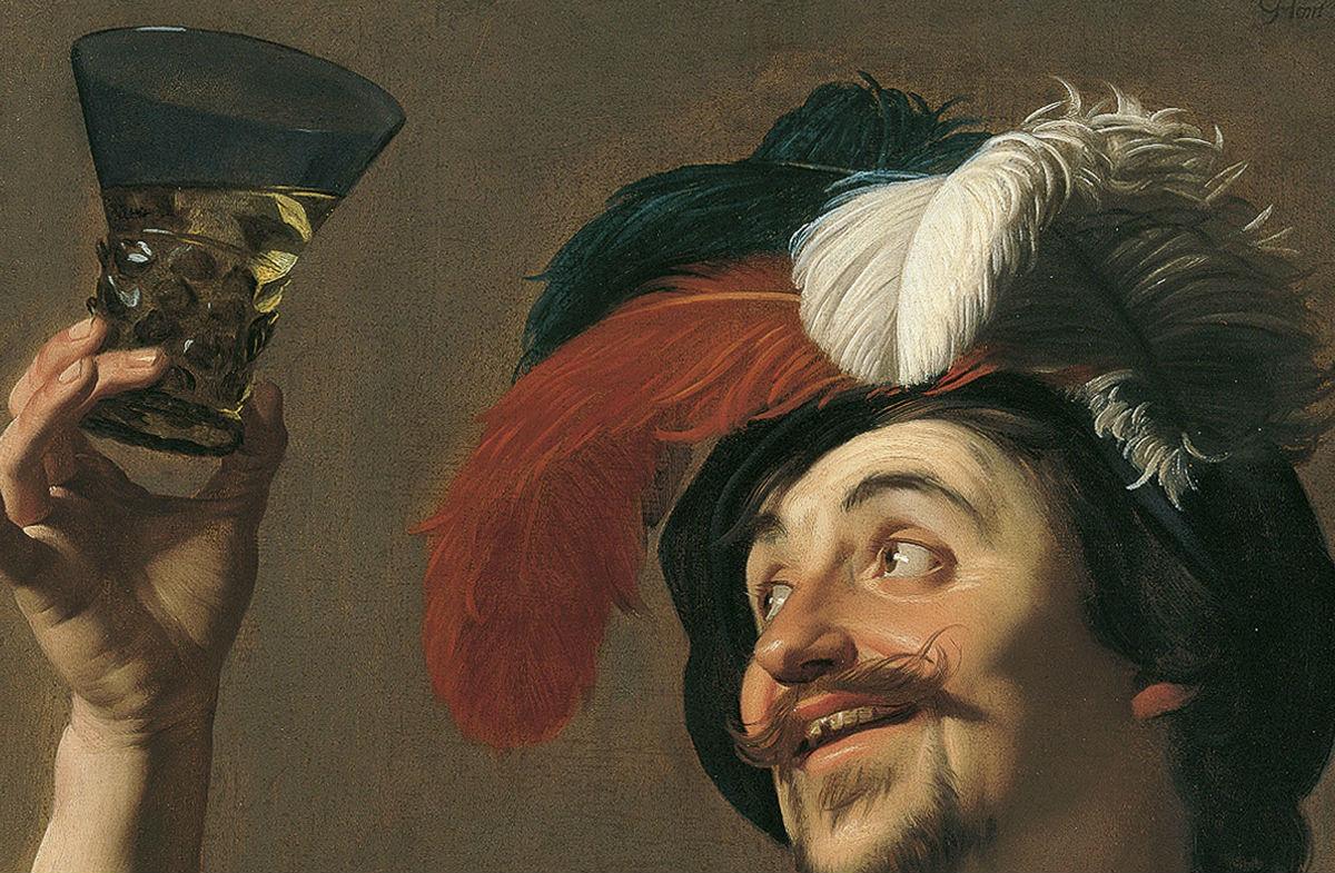 """""""El violinista alegre con un vaso de vino"""" (1624), de Gerrit van Honthorst"""