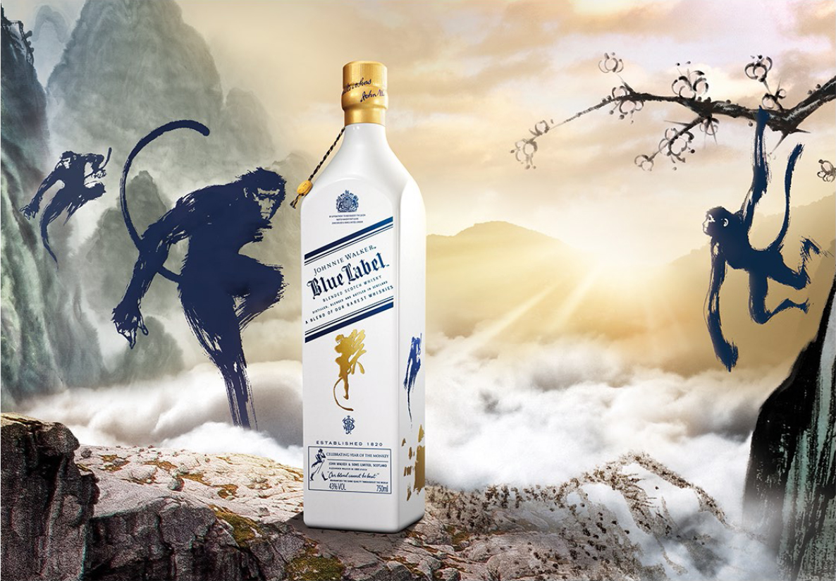 Johnnie Walker Blue Label se pone mono