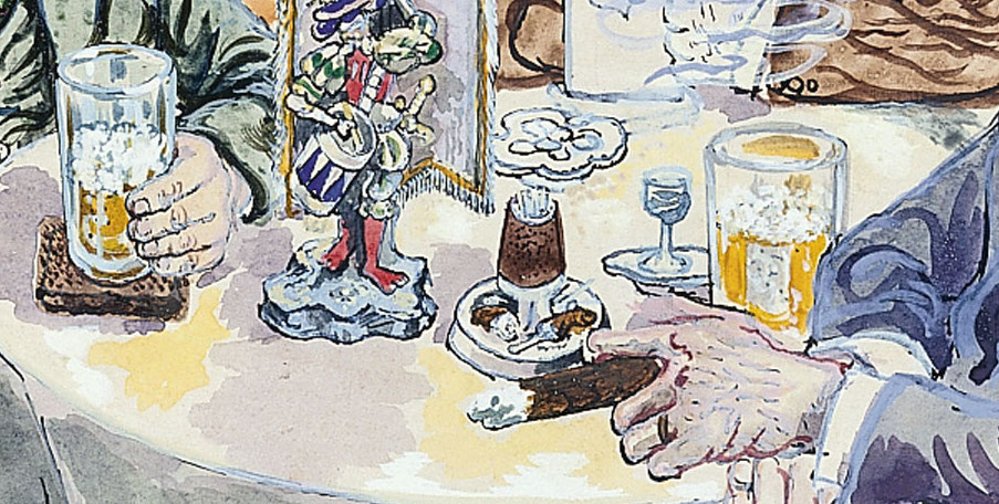 """Tertulia"" (1928-1930), de George Grosz"