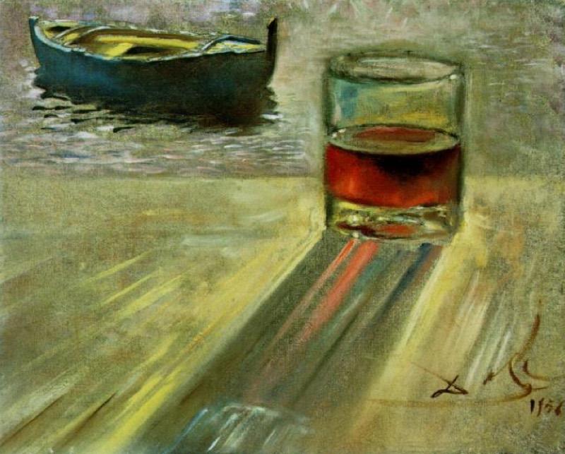 """""""Vaso de vino y bote"""" (1956), de Salvador Dalí"""