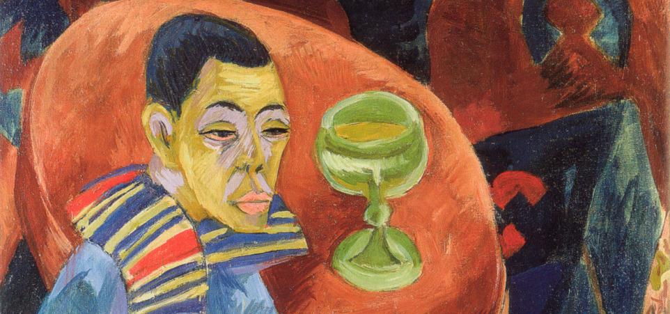 """El bebedor, autorretrato"" (1915), de Ernst Ludwig Kirchner"
