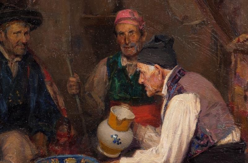 """""""Palique y trago"""" (1878), de José Benlliure Gil"""