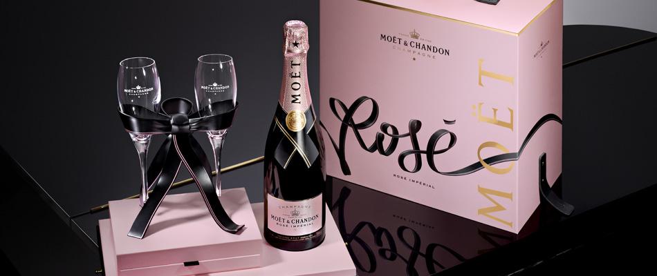 Rosé Impérial, la versión rosa de Moët & Chandon