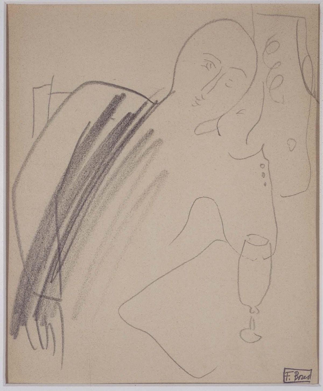 """""""Bebiendo"""" (1929), de Francisco Bores"""