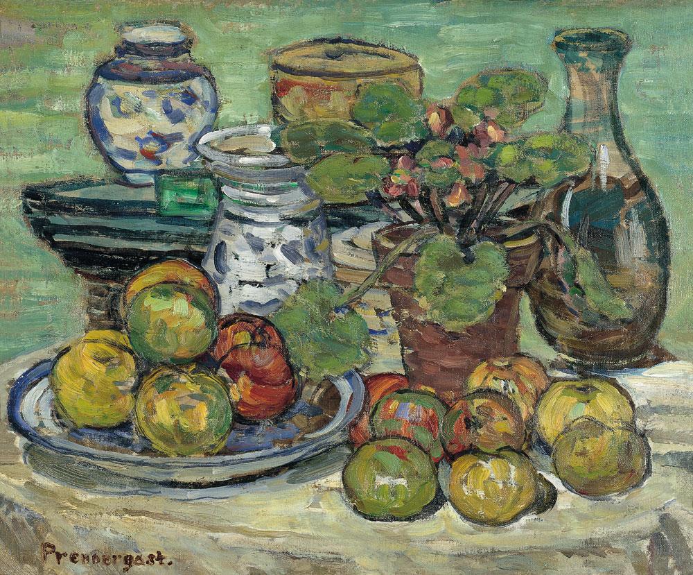 """""""Bodegón con manzanas"""" (1910-1913), de Maurice Prendergast"""
