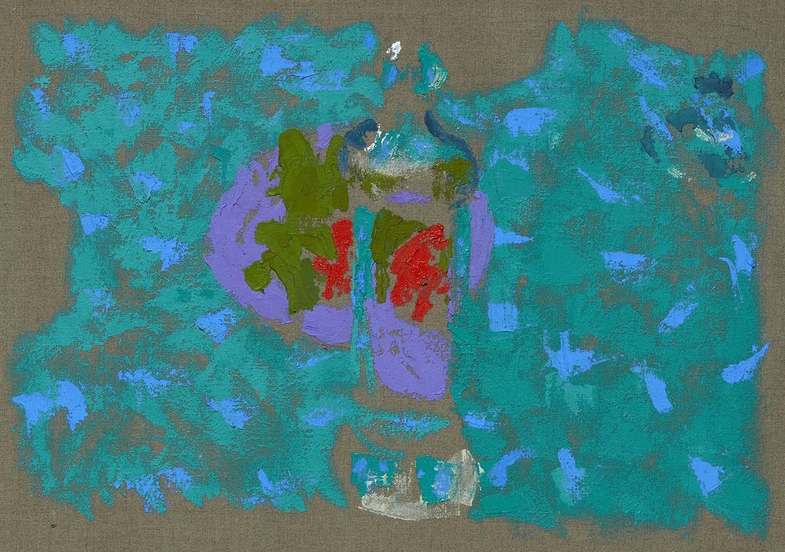 """""""Tarro de fresas, botella, fruta IV. Cielo nublado"""" (1996), de Marta Cárdenas y Díaz de Espada"""