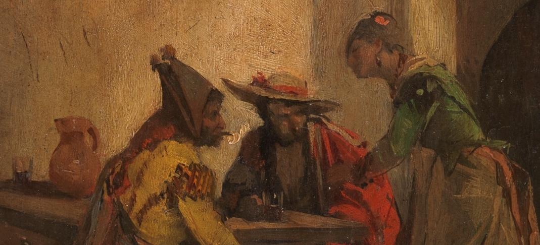 """""""Bebedores en un mesón"""" (1880), de Ángel Lizcano Monedero"""