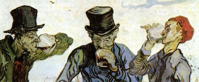 """Borrachos"" (1890), de Vincent Van Gogh"