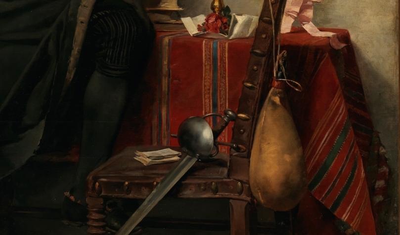 """""""Un estudiante de Salamanca, siglo XVIII"""" (1880), de Nicolás Megía Márquez"""