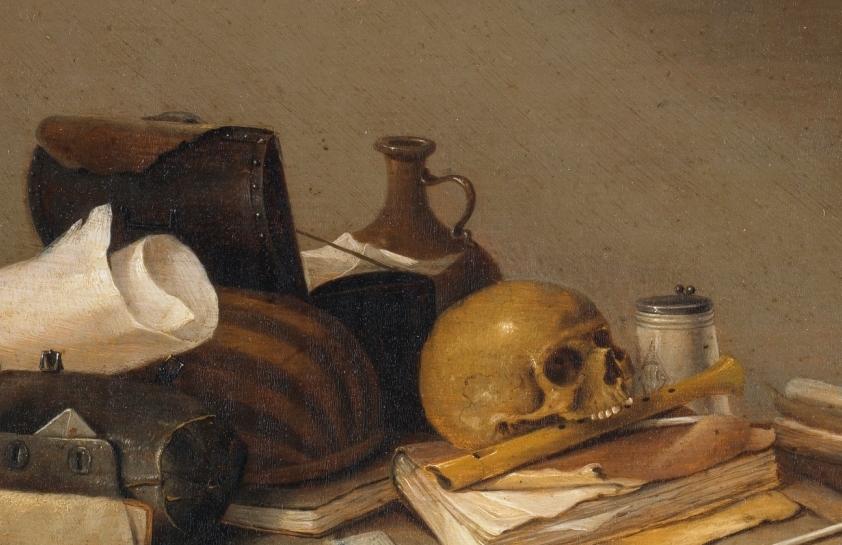 """""""Emblema de la Muerte"""" (1635 – 1640), de Pieter Steenwijck"""