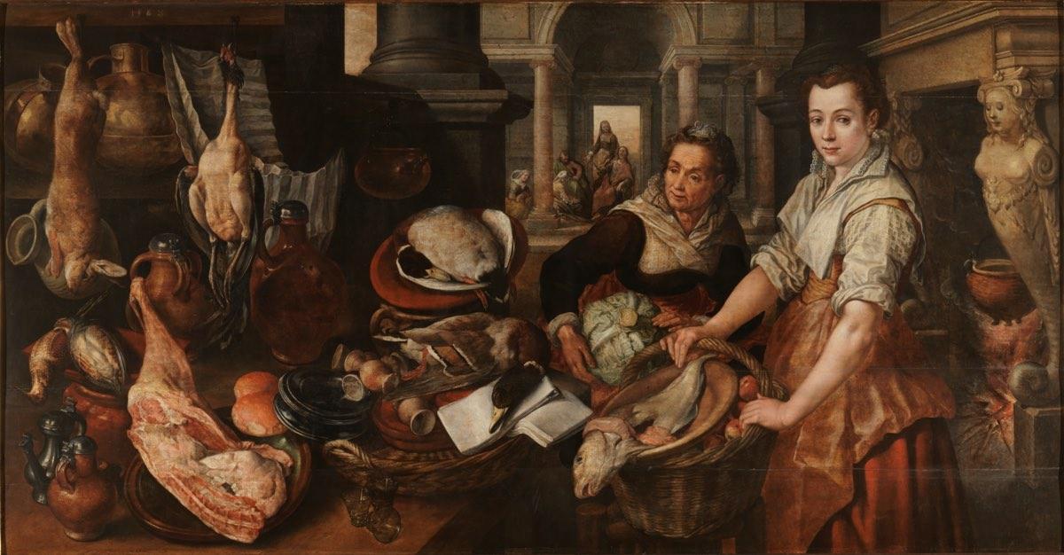 """""""Cristo en casa de Marta y María"""" (1568), de Joachim Beuckelaer"""