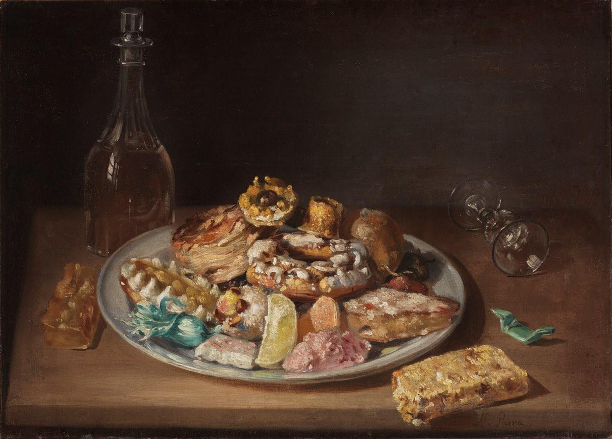 """""""Plato de dulces"""" (1845), de Miguel Parra"""
