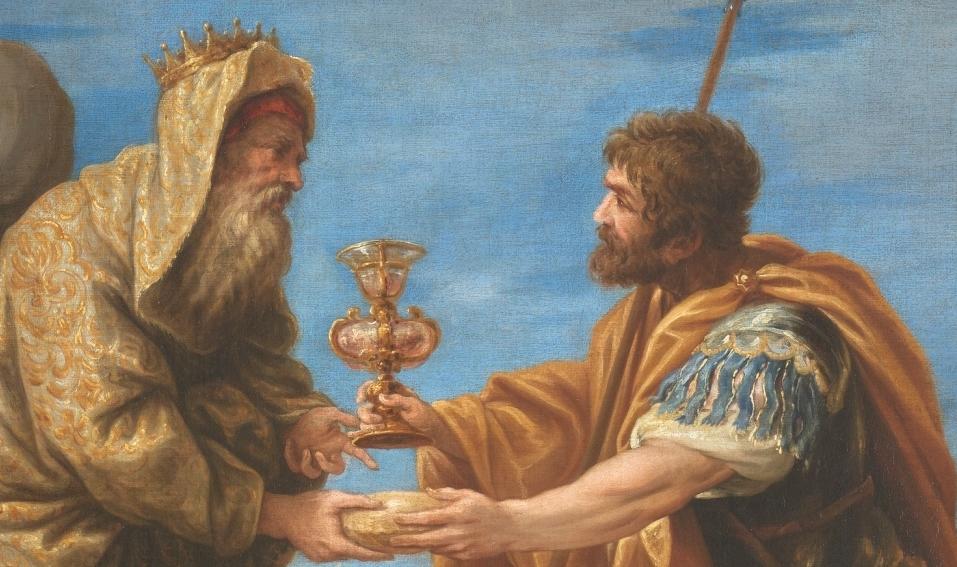 """""""Abraham y Melquisedec"""" (1668), de Juan Antonio Escalante"""