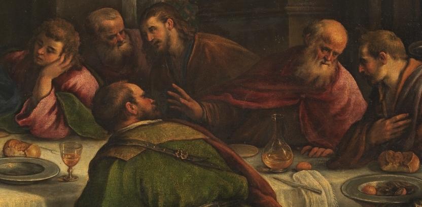 """""""La Última Cena"""" (1586), de Francesco Bassano el Joven"""