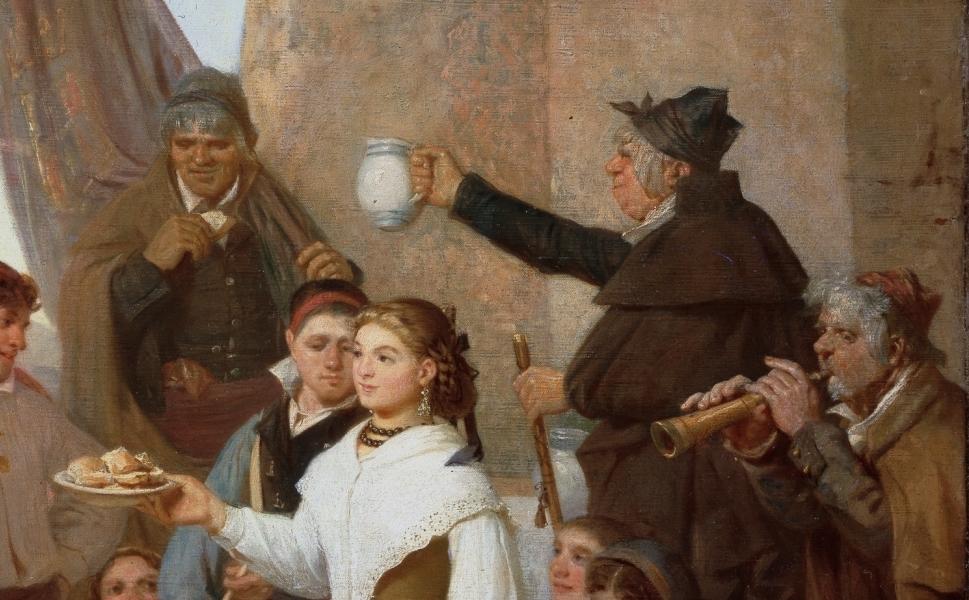 """""""El presente. Fiesta mayor en Moncayo (Aragón), la víspera del santo patrono"""" (1866), de Valeriano Domínguez Bécquer"""