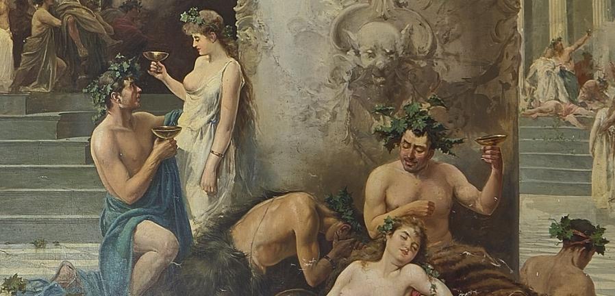 """""""Las fiestas de Baco"""" (1892), de Manuel Picolo López"""