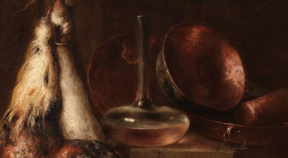 """""""Bodegón de cocina"""" (1664), de Mateo Cerezo"""
