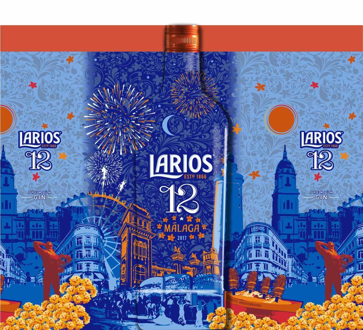 Larios 12 lleva el espíritu mediterráneo con una edición especial para la feria de Málaga en 2017