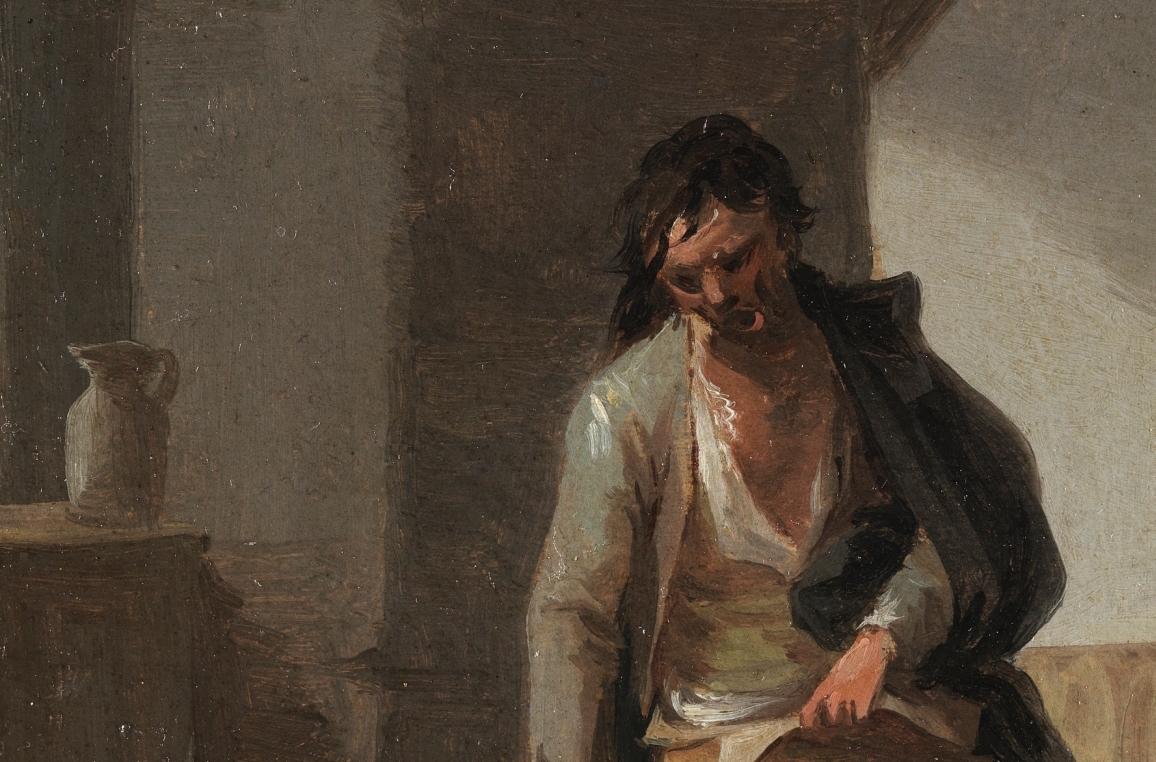 """Borracho"" (hacia 1835), de Leonardo Alenza"