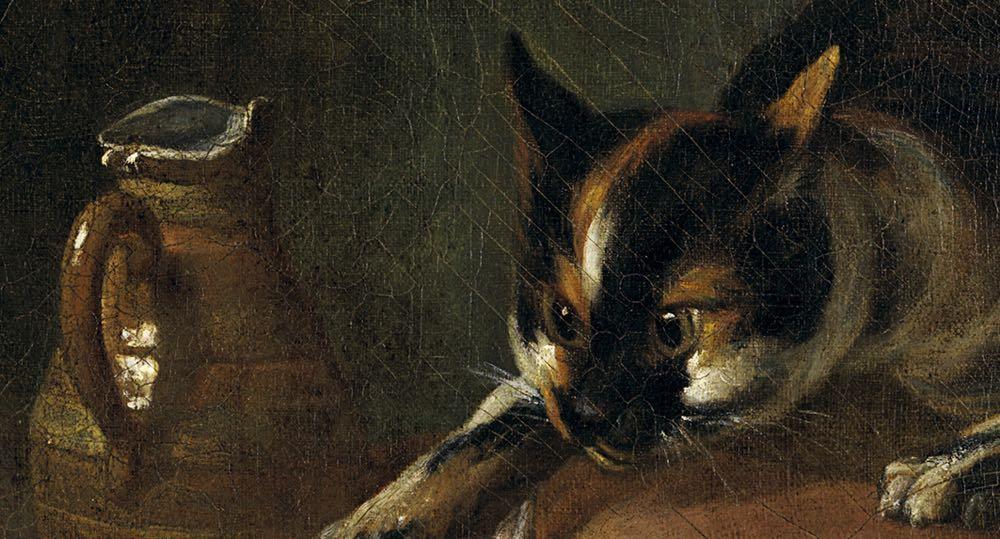 """Bodegón con gato y raya"" (1728), de Jean Baptiste Siméon Chardin"