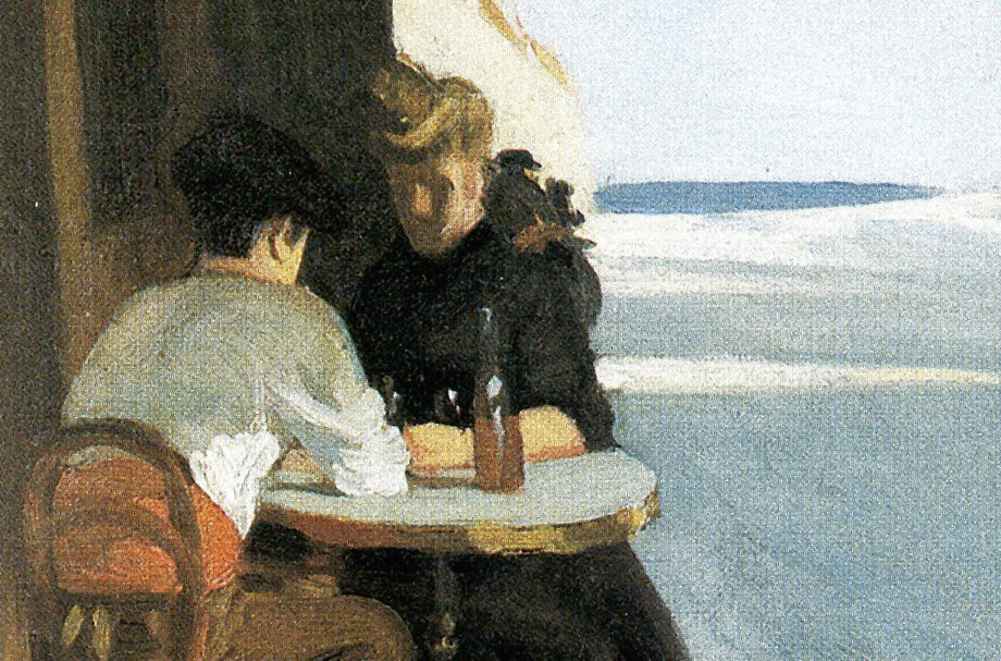"""Le Bistro or The Wine Shop"" (1909), de Edward Hopper"
