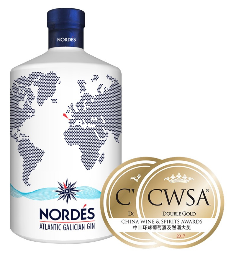 Nordés Gin, doble medalla de oro en los prestigiosos China Wines and Spirits Awards