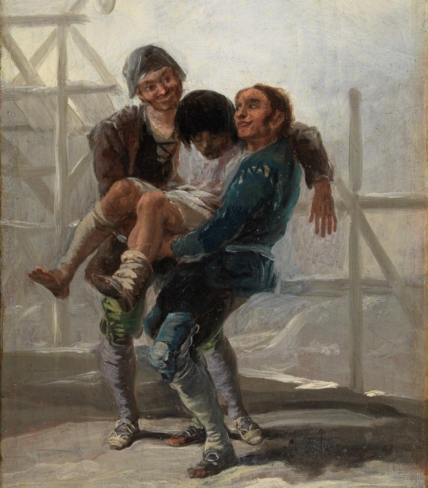 """""""El albañil borracho"""" (1786), de Francisco de Goya y Lucientes"""