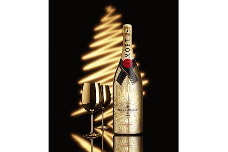 Moët & Chandon se viste de oro para celebrar de nuevo la Navidad con Moët Impérial Golden Sparkle Jeroboam