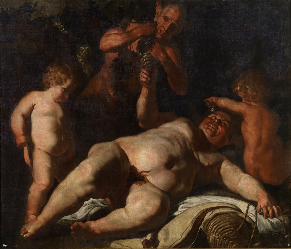 """""""Sileno ebrio"""" (1630 – 1635), de Cesare Fracanzano"""