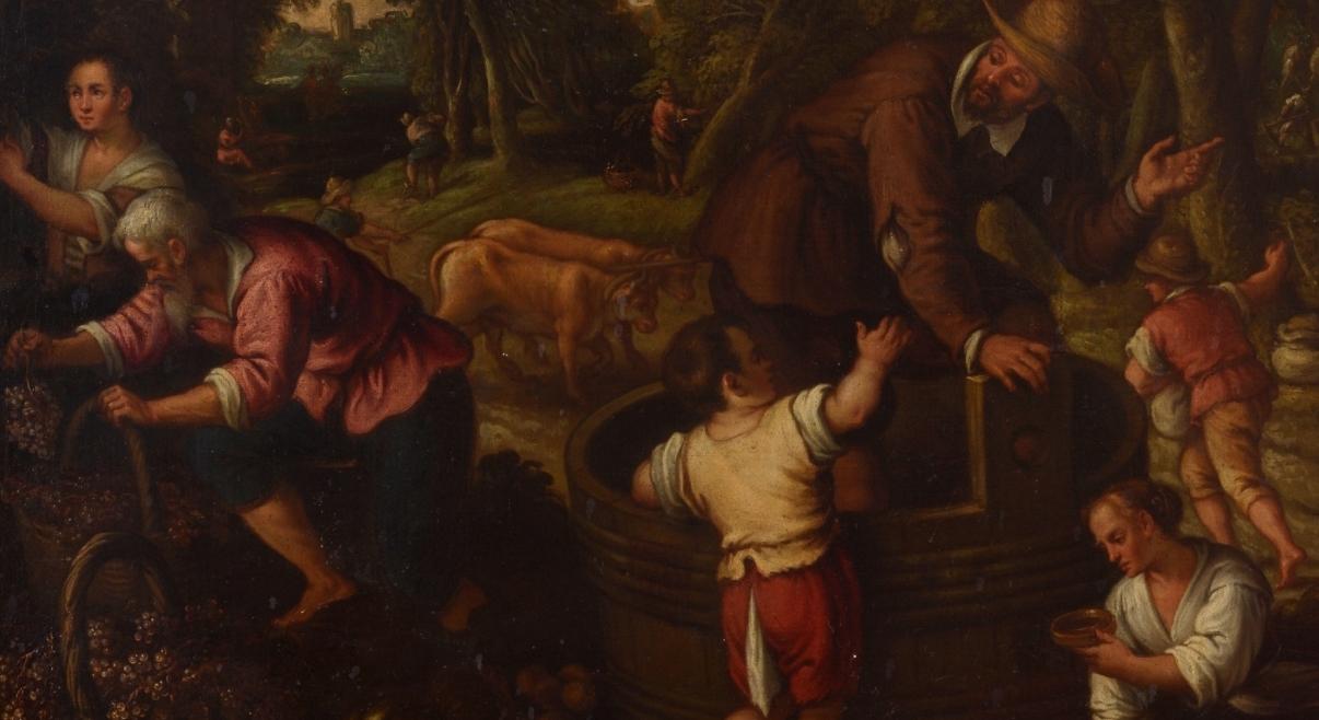 """""""La vendimia o El Otoño"""" (segunda mitad del siglo XVI), de Paolo Fiammingo"""