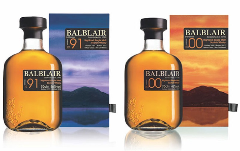 Balblair estrena nuevas ediciones de las añadas 1991 y 2000