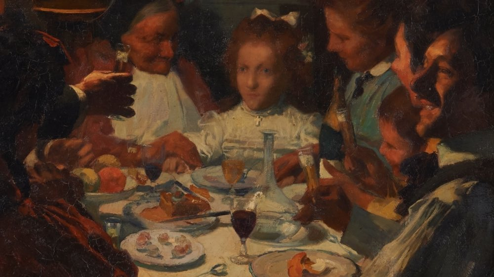 """""""La cena de primera comunión de la pequeña portera"""" (hacia 1918), de André Victor Edouard Devambez"""