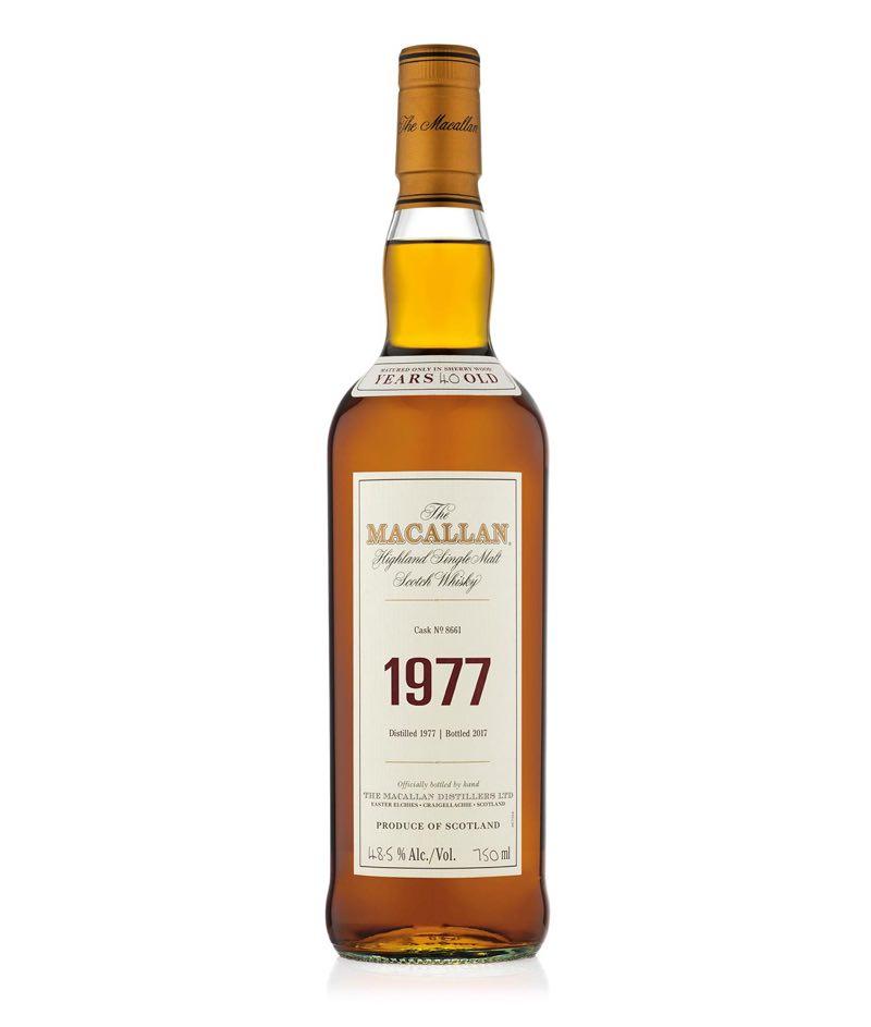 La edición limitada The Macallan 1977 Fine & Rare es comercializada por 15,000 dólares