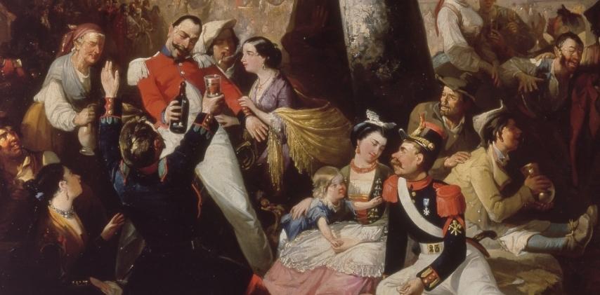"""""""Baile en la Virgen del Puerto"""" (1857), de Manuel Rodríguez de Guzmán"""