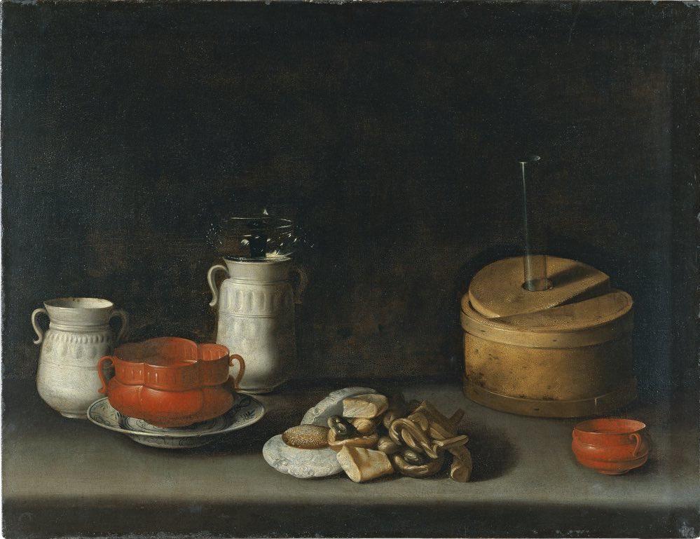 """""""Bodegón con loza y dulces"""" (hacia 1627), de Juan van der Hamen y León"""