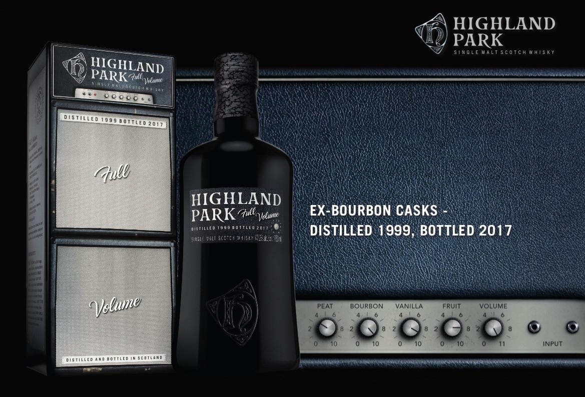 Highland Park lanza Full Volume, un whisky de malta inspirado en la música