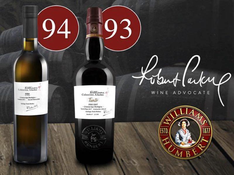 Los vinos de Jerez de Williams & Humbert obtienen altas puntuaciones en The wine Advocate