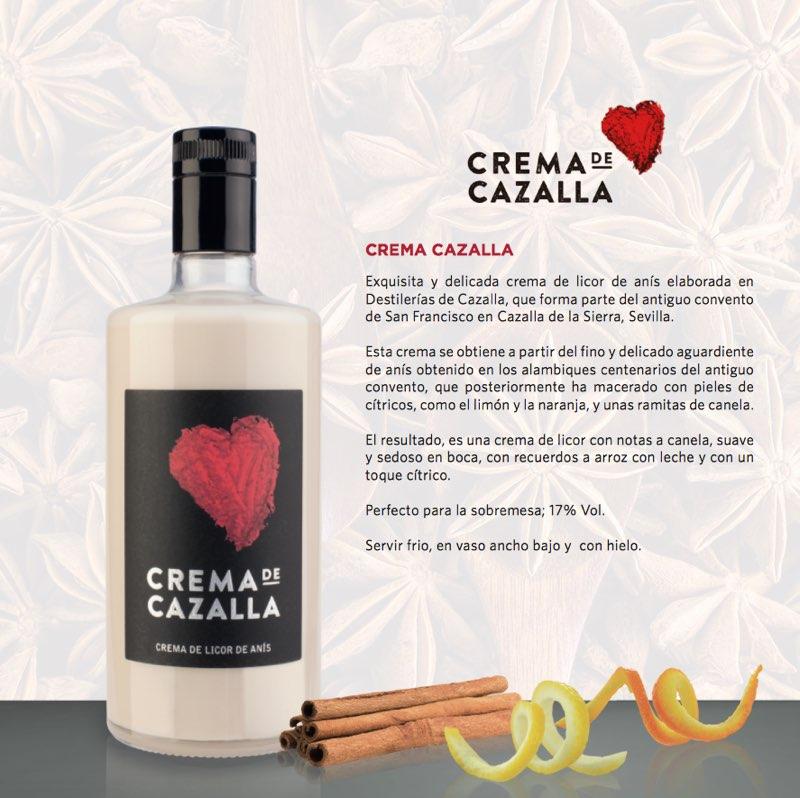 Caballero relanza 'Crema de Cazalla', exquisita y delicada crema de licor de anís