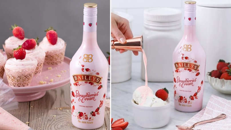 Baileys Strawberries & Cream, edición limitada para el Día de San Valentín