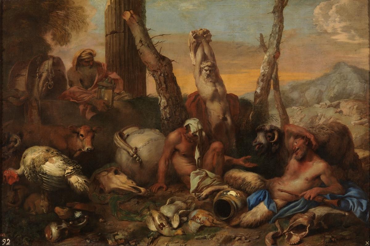"""""""Diógenes buscando a un hombre"""" (1645-1655), de Giovanni Benedetto Castiglione"""